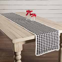 Emmie Black 90 inch Table Runner