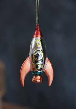 Mini Rocket Ship Ornament