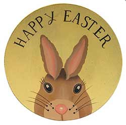 Happy Easter Wood Plate
