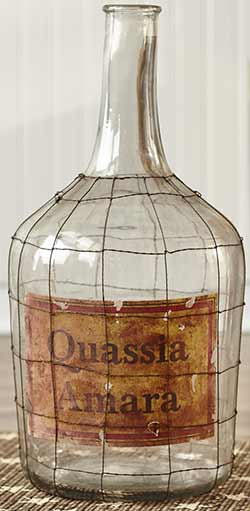 Glass Jug with Vintage Label (Large)