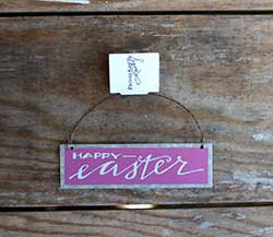 Happy Easter Tin Ornament