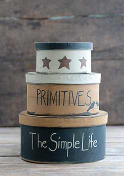 Simple Life Stacking Boxes (Set of 3)