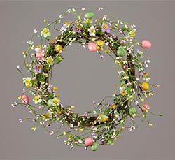 Pastel Berries & Eggs Wreath