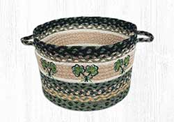 Shamrock Braided Utility Basket - Medium