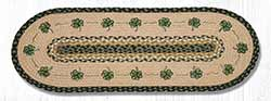 Shamrock Braided Table Runner - 36 inch