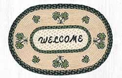 Shamrock Welcome Braided Rug