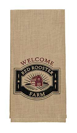 Red Rooster Farm Dishtowel