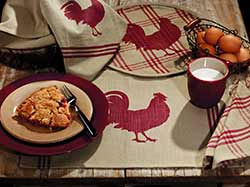 Red Rooster 36 inch Table Runner