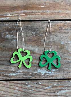 Mini Shamrock Ornaments (Set of 2)