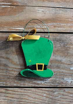 Leprechaun Hat Personalized Ornament