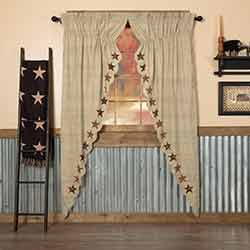 Abilene Star Long Prairie Curtain Panels