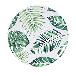 Palm Leaves Melamine Plates (Set of 4)