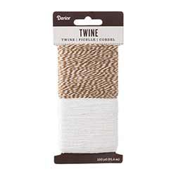 Baking Twine, 100 yards - Walnut & White