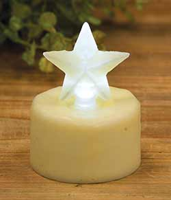 Ivory Star Timer Tealight Candle
