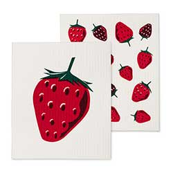 Strawberry Swedish Dish Cloths (Set of 2)
