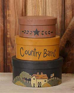 Country Barns Stacking Boxes (Set of 3)