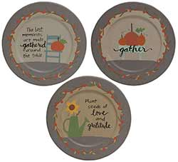 Gather Primitive Fall Plates (Set of 3)
