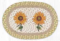 Sunflowers Braided Placemat - Oval