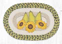 Sunflowers & Pears Braided Placemat