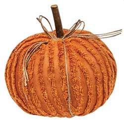 Orange Chenille Pumpkin - 6 inch