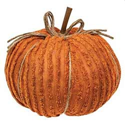 Orange Chenille Pumpkin - 8 inch