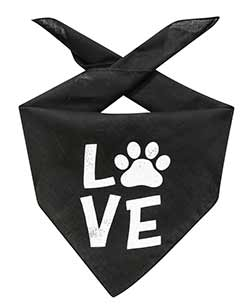 Love Dog Bandana with Paw
