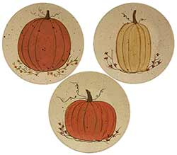 White Pumpkin Plates (Set of 3)