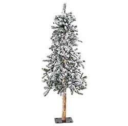 Flocked Alpine Christmas Tree - 5 foot
