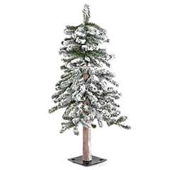 Flocked Alpine Christmas Tree - 3 foot