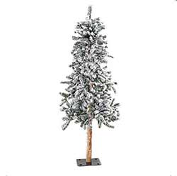 Flocked Alpine Christmas Tree - 6 foot