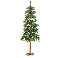 Pre-Lit Alpine Christmas Tree - 4 foot
