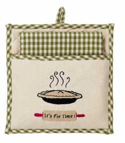 Apple Valley Pot Holder & Dishtowel Set