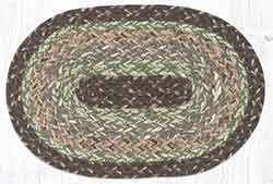 Moss Bark Braided Oval Tablemat