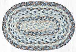 Denim Braided Oval Tablemat