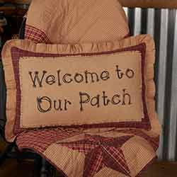 Welcome to Our Patch Pillow