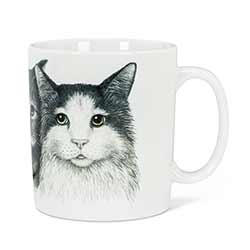 Three Cats Mugs (Set of 4)