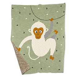 Monkey Baby Throw Blanket