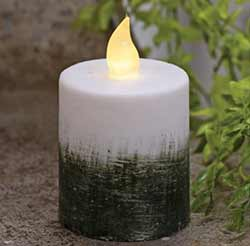 Ombre Timer Pillar Candle - 2.5 x 3.5 inch