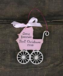 Baby Carriage Personalized Ornament