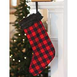 Red Buffalo Check Christmas Stocking