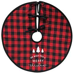 Red Buffalo Check Christmas Tree Skirt