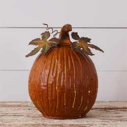 Rusty Pumpkin Luminary