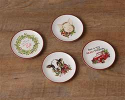 Farmhouse Christmas Mini Plates (Set of 4)
