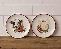 Farmhouse Christmas Dinner Plates (Set of 2)