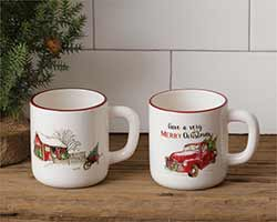 Farmhouse Christmas Mugs (Set of 2)