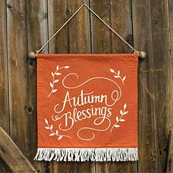 Autumn Blessings Fabric Wall Hanging