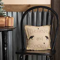 Kettle Grove Believe and Receive Pillow 12x12