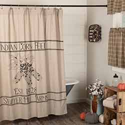 Sawyer Mill Charcoal Corn Feed Shower Curtain 72x72