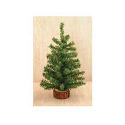 Tabletop Christmas Tree in Wood Slice - 12 inch