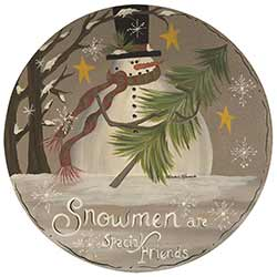 Snowmen Are Special Friends Plate